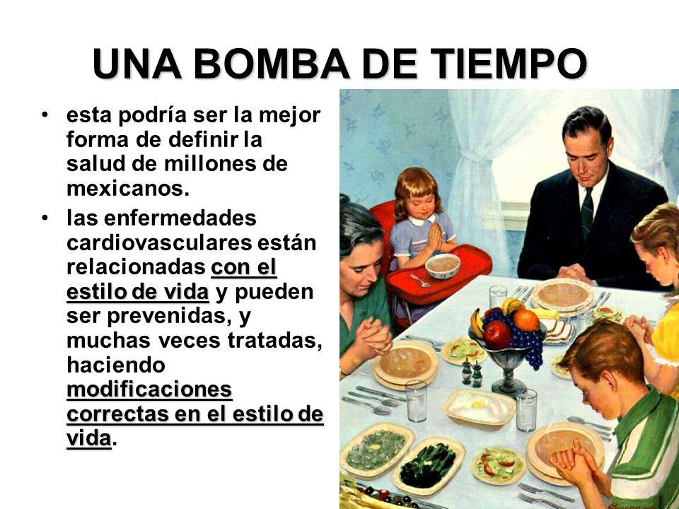 UNA BOMBA DE TIEMPO esta podría ser la mejor forma de definir la salud de millones de mexicanos. con el estilo de vida modificaciones correctas en el