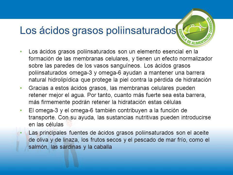 Los ácidos grasos poliinsaturados Los ácidos grasos poliinsaturados son un elemento esencial en la formación de las membranas celulares, y tienen un e