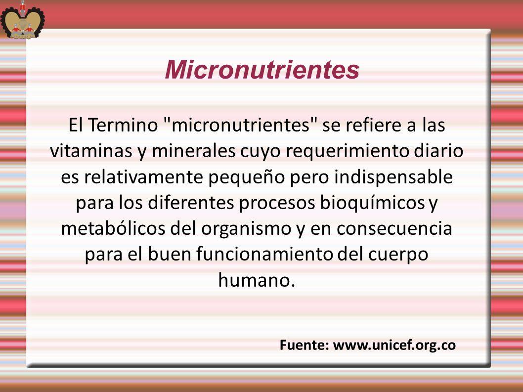 Micronutrientes El Termino