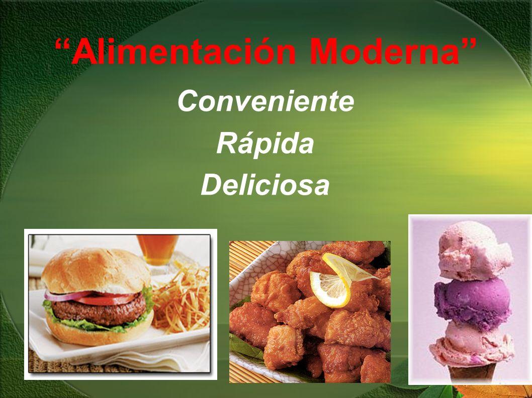 Alimentación Moderna Conveniente Rápida Deliciosa