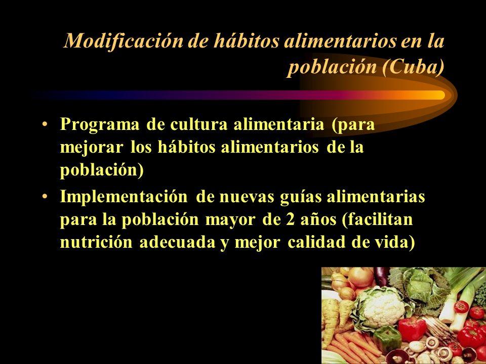 Prevención de los trastornos relacionados con micronutrientes (Cuba) Fortificación del puré de frutas con hierro y vitamina C (menores de 3 años) Fort