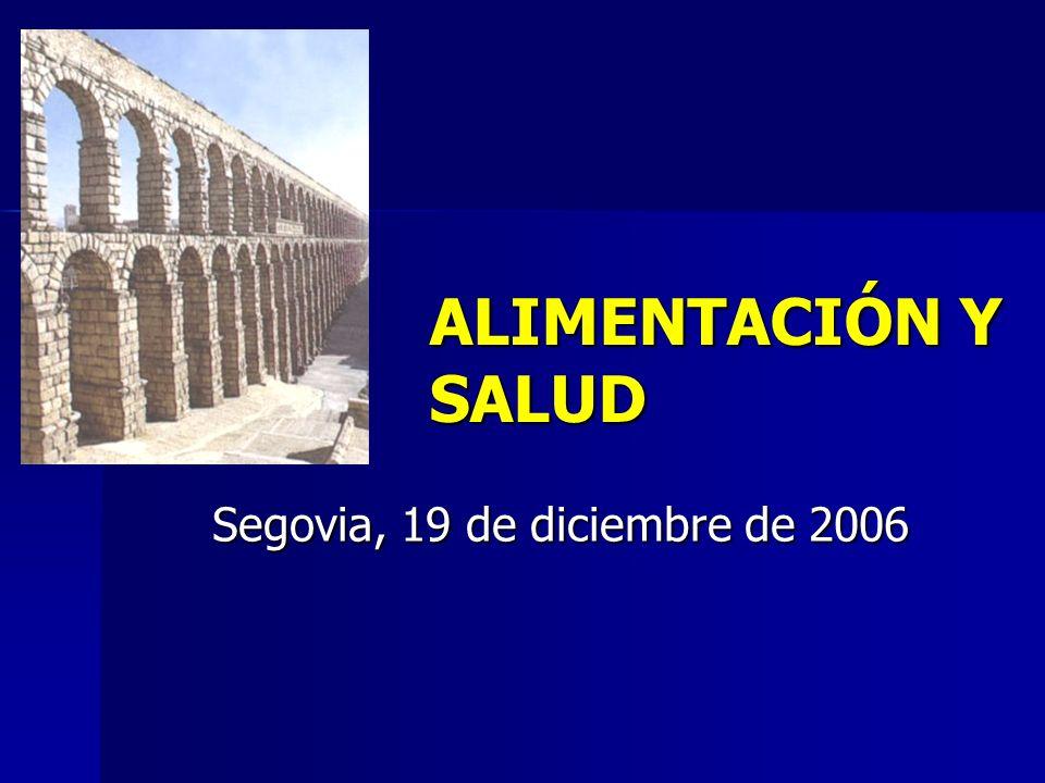 ALIMENTACIÓN Y SALUD Segovia, 19 de diciembre de 2006