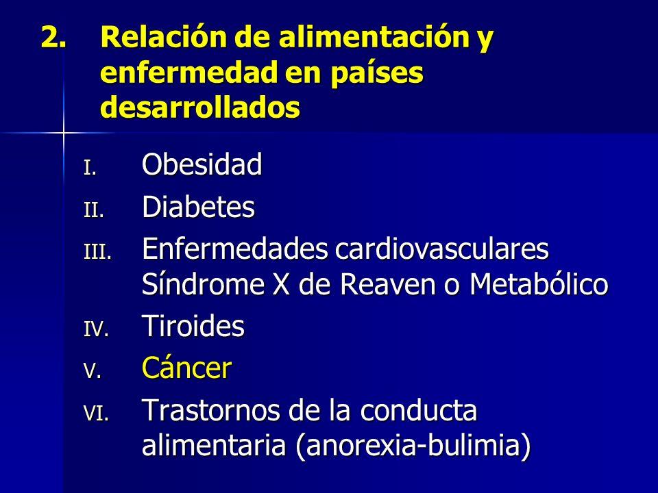 2.Relación de alimentación y enfermedad en países desarrollados I.