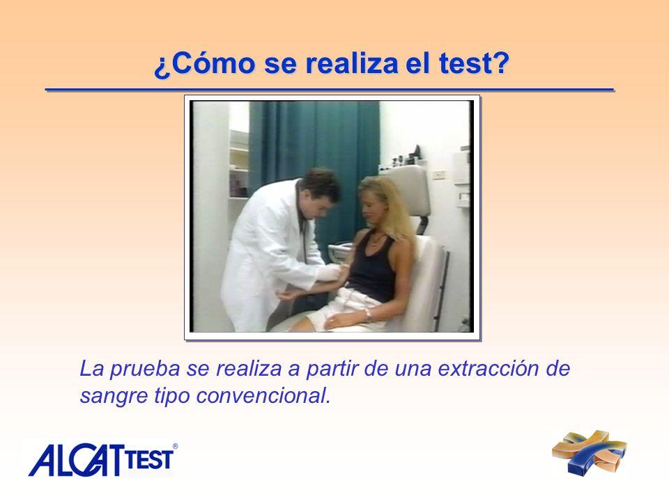 ¿Cómo se realiza el test? La prueba se realiza a partir de una extracción de sangre tipo convencional.