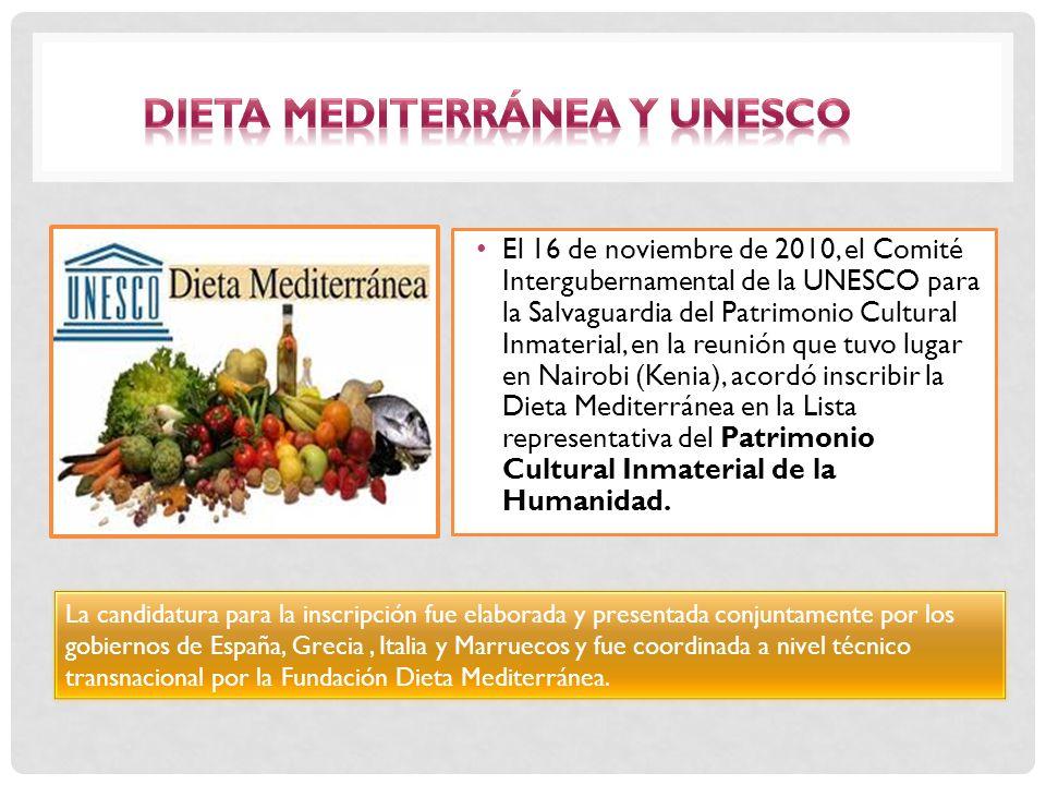 Frutas frescas y hortalizas frescas de temporada Aceite de oliva Cereales y legumbres Frutos secosLácteosPescadosCarnes
