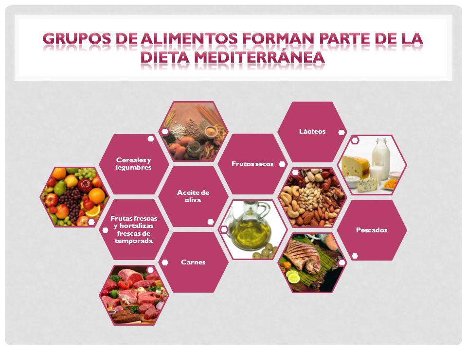 verduras, legumbres, frutas, frutos secos y cereales integrales.