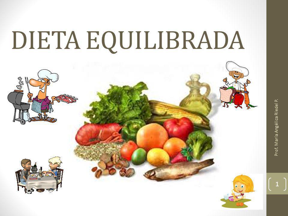 DIETA EQUILIBRADA Prof. María Angélica Riedel P. 1