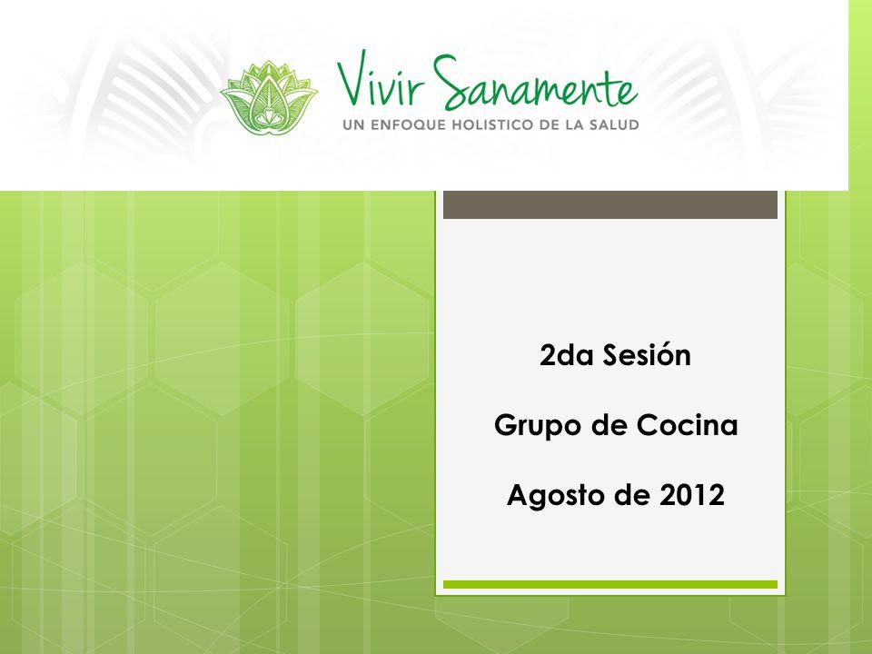 2da Sesión Grupo de Cocina Agosto de 2012