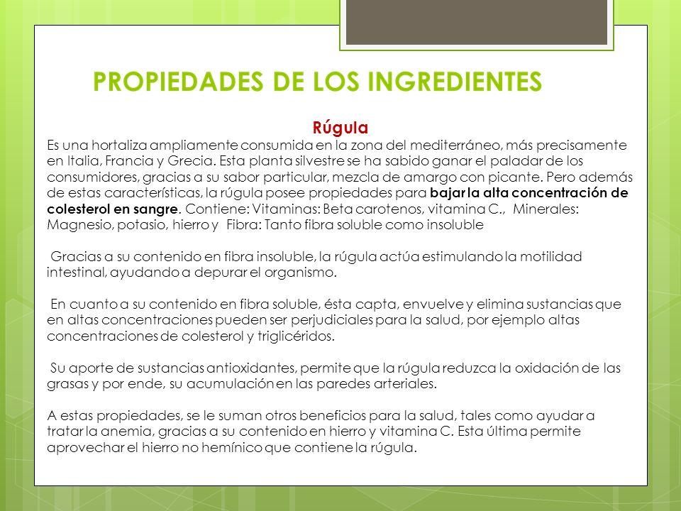 Rúgula Es una hortaliza ampliamente consumida en la zona del mediterráneo, más precisamente en Italia, Francia y Grecia. Esta planta silvestre se ha s