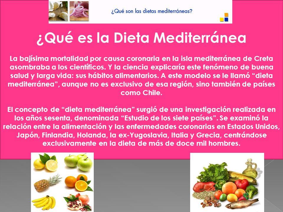 ¿Por qué las dietas mediterráneas son saludables.