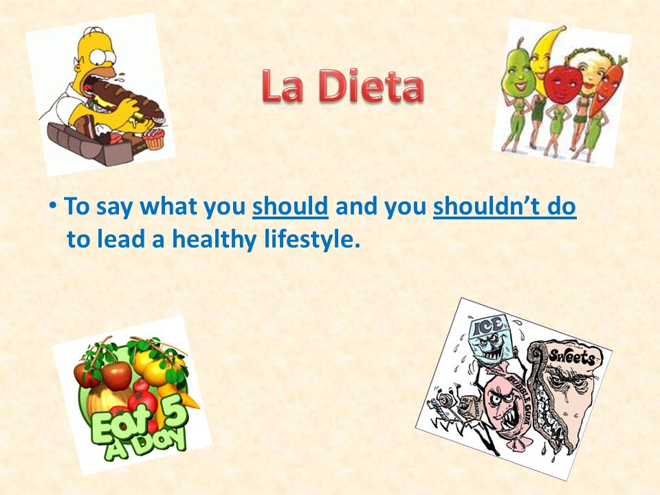 To say what you should and you shouldnt do to lead a healthy lifestyle.