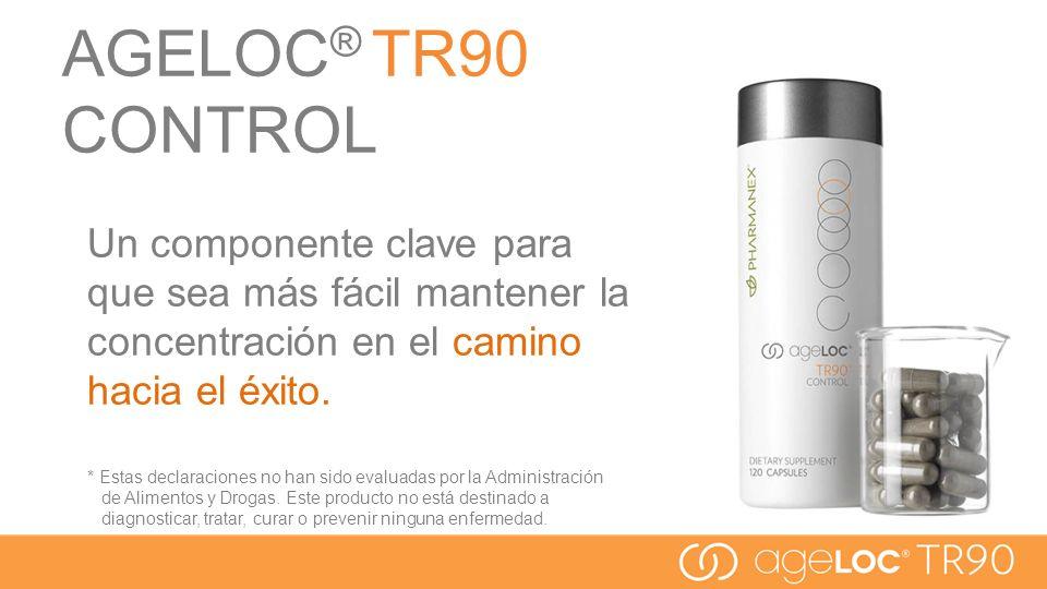 AGELOC ® TR90 CONTROL Un componente clave para que sea más fácil mantener la concentración en el camino hacia el éxito. * Estas declaraciones no han s