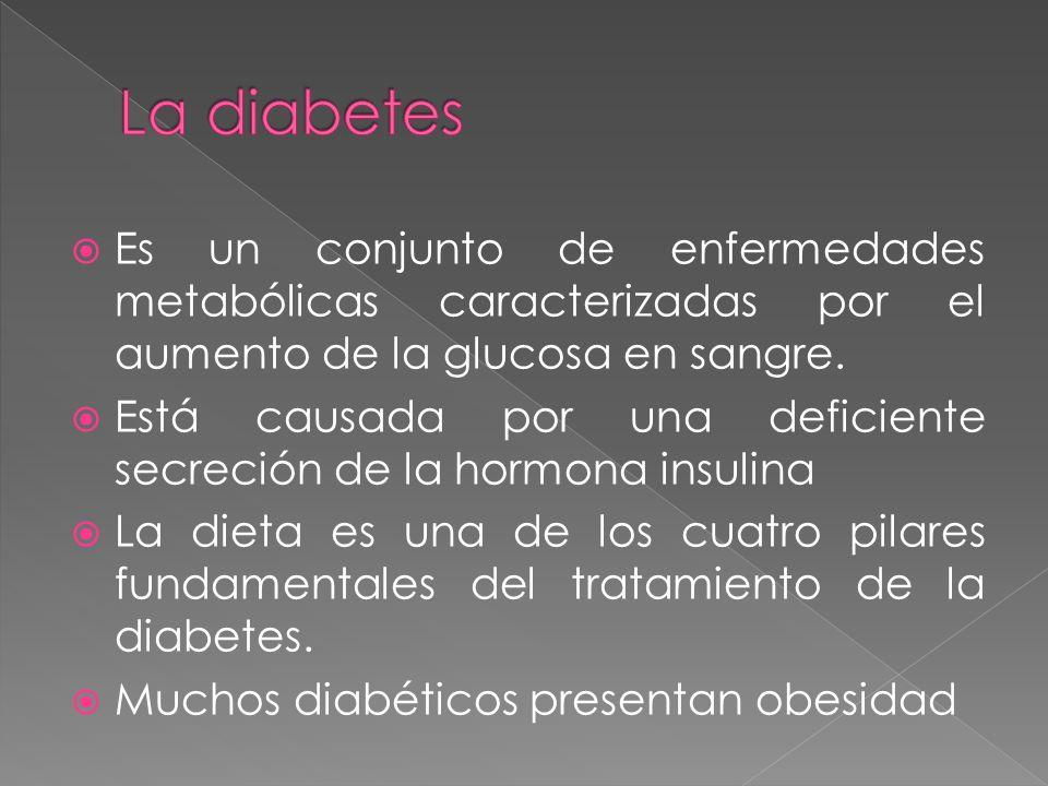Es un conjunto de enfermedades metabólicas caracterizadas por el aumento de la glucosa en sangre.