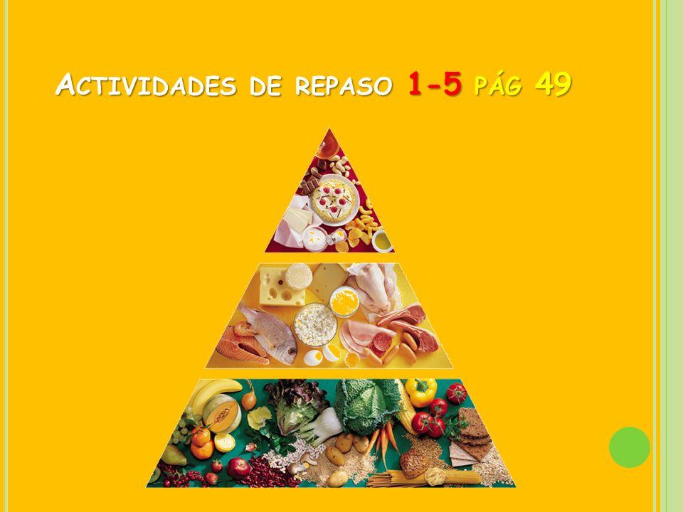 A CTIVIDADES DE REPASO 1-5 PÁG 49