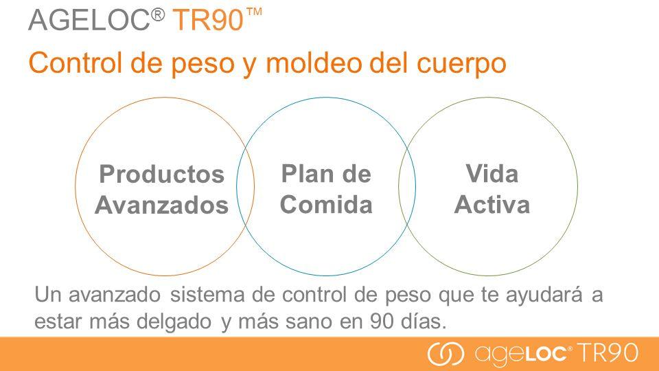Plan de Comida AGELOC ® TR90 Control de peso y moldeo del cuerpo Un avanzado sistema de control de peso que te ayudará a estar más delgado y más sano