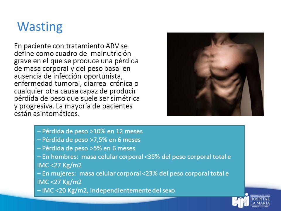 Lipoatrofia Es el principal diagnóstico diferencial del wasting.
