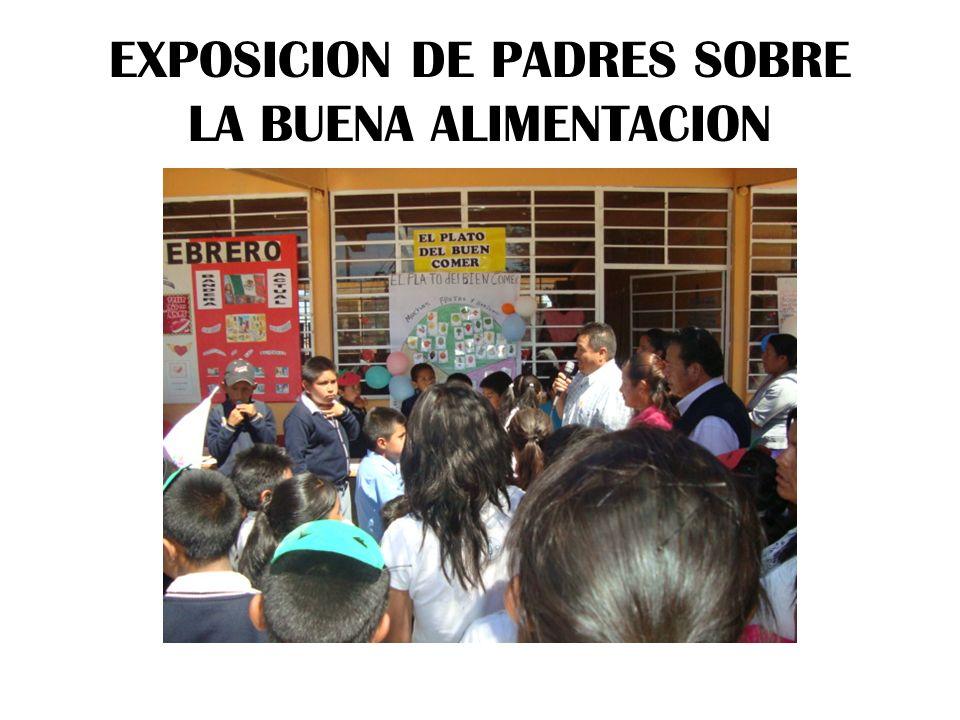 EXPOSICION DE PADRES SOBRE LA BUENA ALIMENTACION