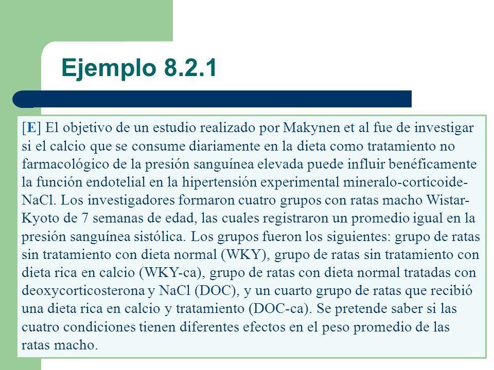 [E] El objetivo de un estudio realizado por Makynen et al fue de investigar si el calcio que se consume diariamente en la dieta como tratamiento no fa