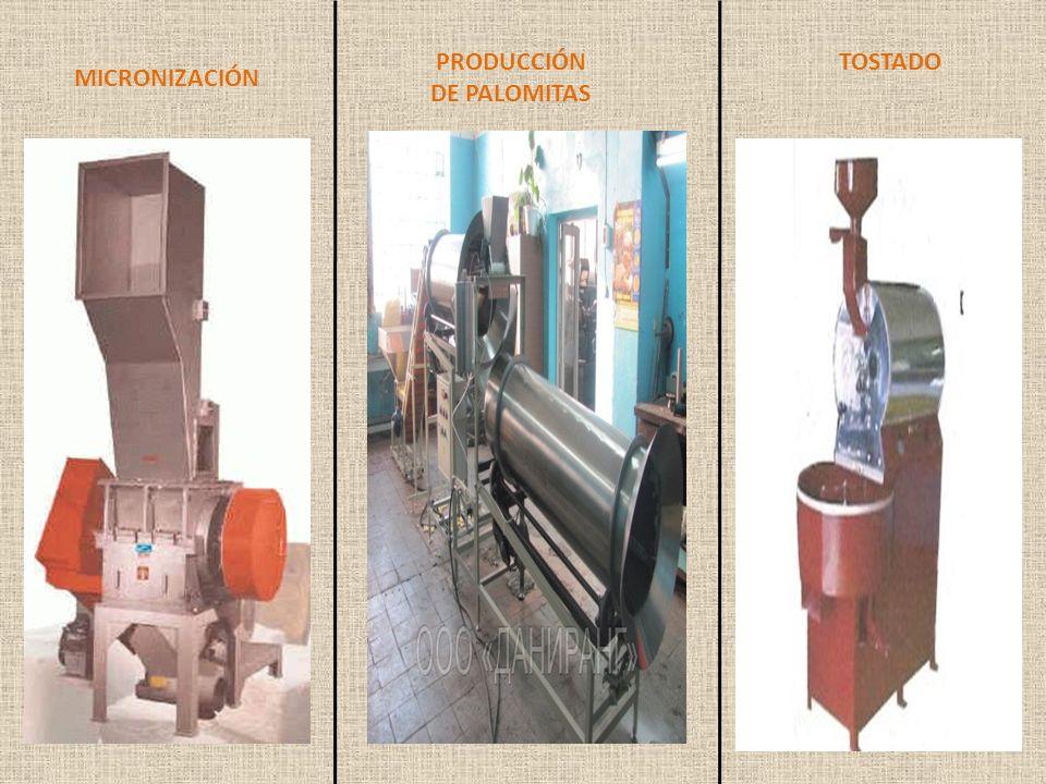 MICRONIZACIÓN PRODUCCIÓN DE PALOMITAS TOSTADO