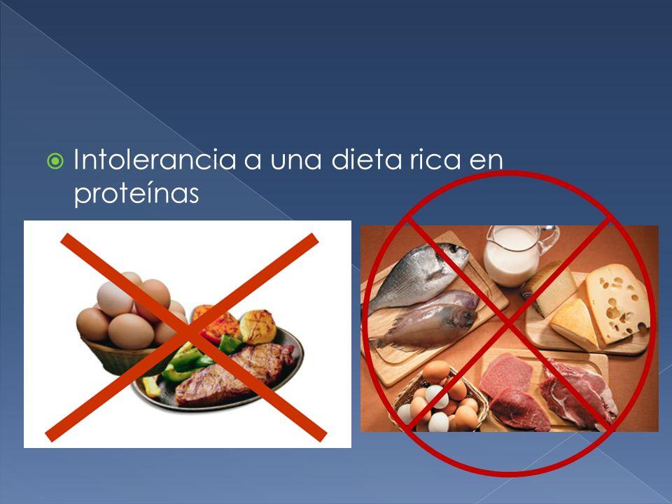 Intolerancia a una dieta rica en proteínas