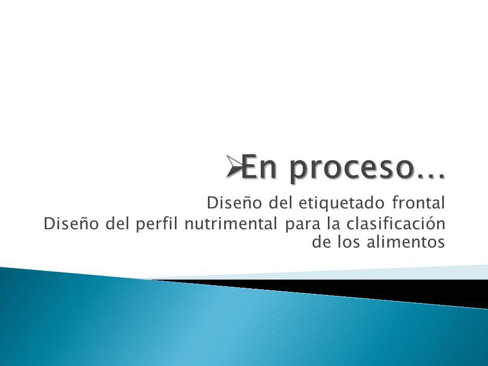 Diseño del etiquetado frontal Diseño del perfil nutrimental para la clasificación de los alimentos
