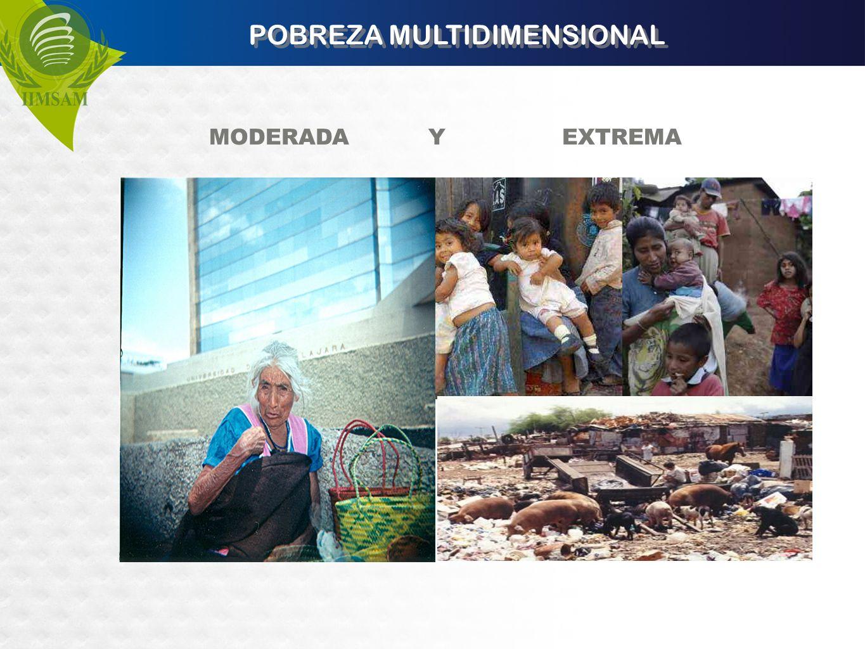 POBREZA MULTIDIMENSIONAL MODERADA Y EXTREMA