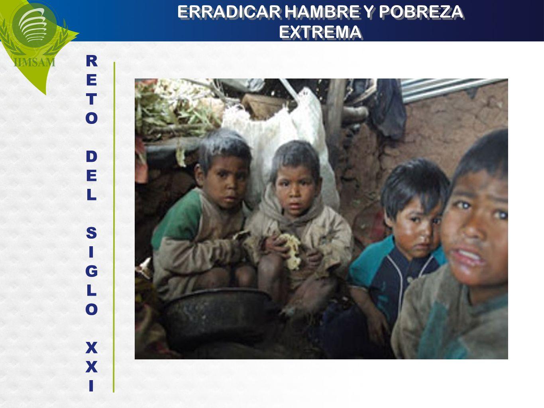 ERRADICAR HAMBRE Y POBREZA EXTREMA RETODELSIGLOXXIRETODELSIGLOXXI