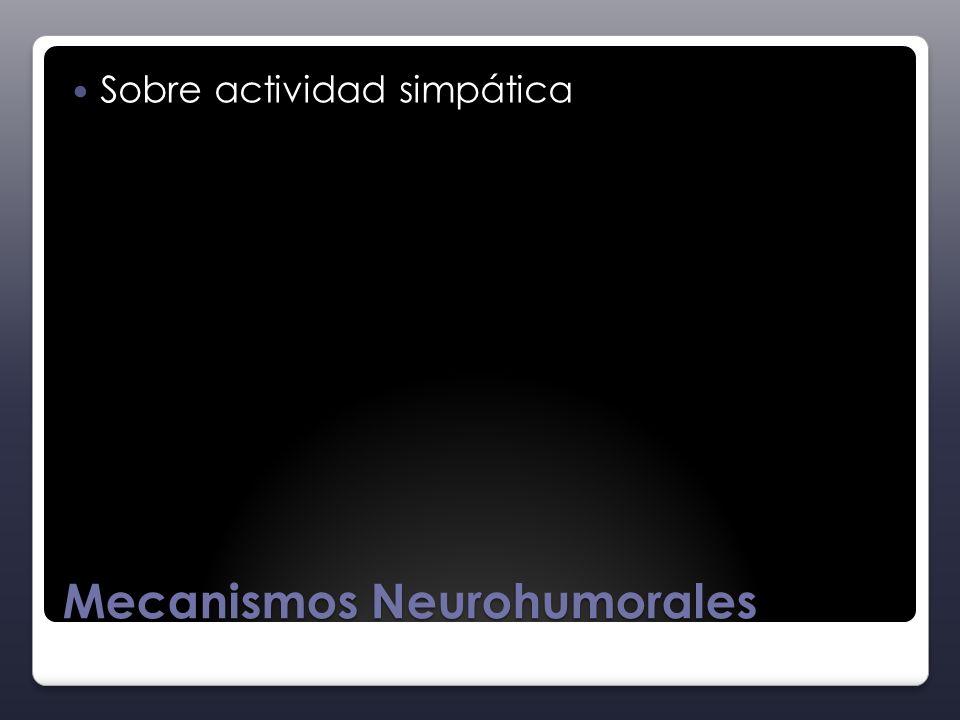Mecanismos Neurohumorales Sobre actividad simpática