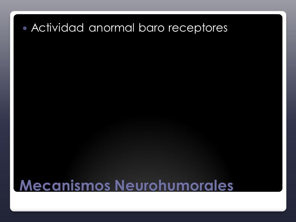 Mecanismos Neurohumorales Actividad anormal baro receptores