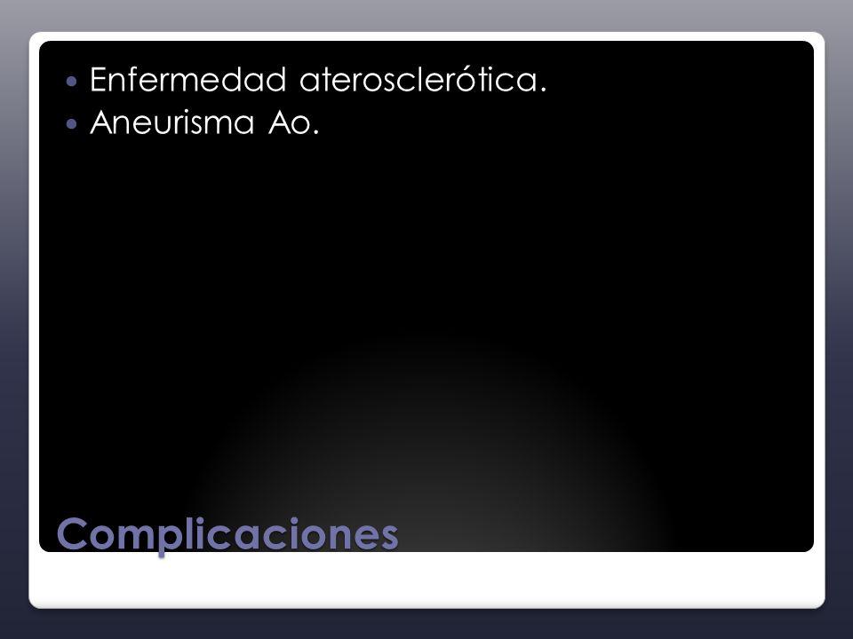 Complicaciones Enfermedad aterosclerótica. Aneurisma Ao.