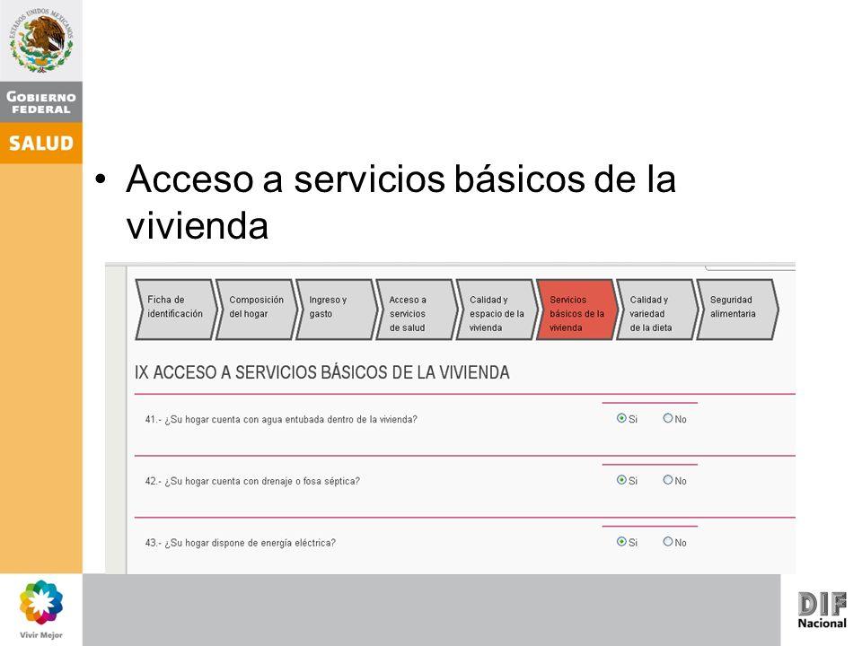 Acceso a servicios básicos de la vivienda