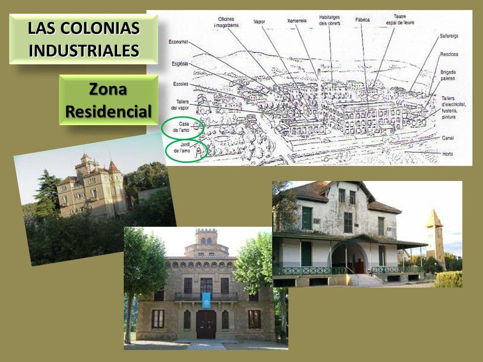 LAS COLONIAS INDUSTRIALES LAS COLONIAS INDUSTRIALES Zona Residencial Zona Residencial