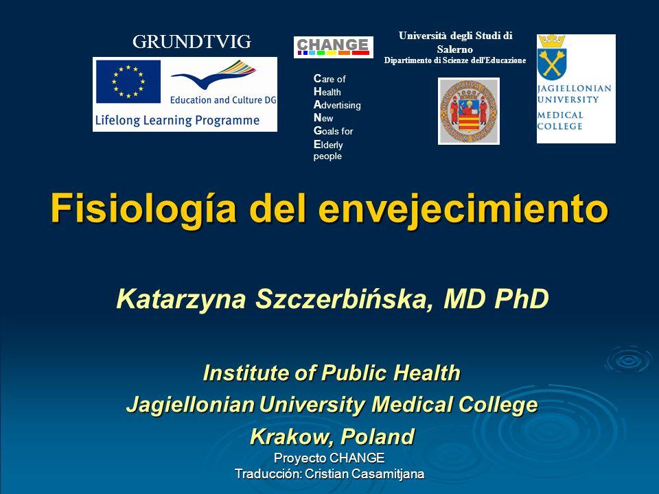 Proyecto CHANGE Traducción: Cristian Casamitjana GRUNDTVIG Università degli Studi di Salerno Dipartimento di Scienze dell'Educazione C are of H ealth