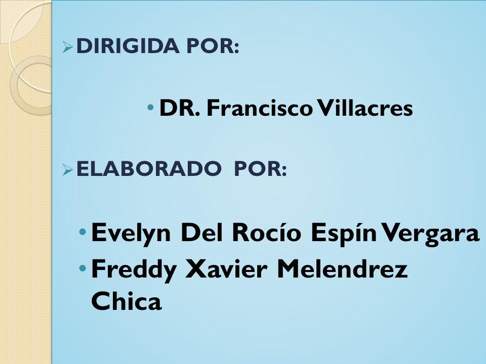 DIRIGIDA POR: DR.