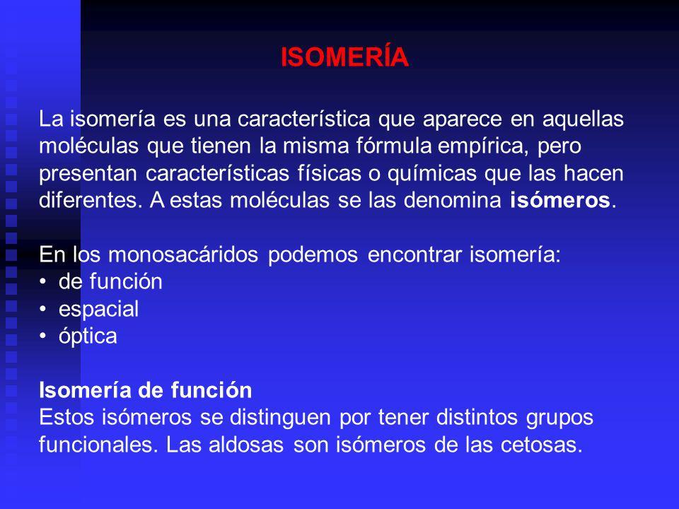 ISOMERÍA La isomería es una característica que aparece en aquellas moléculas que tienen la misma fórmula empírica, pero presentan características físi