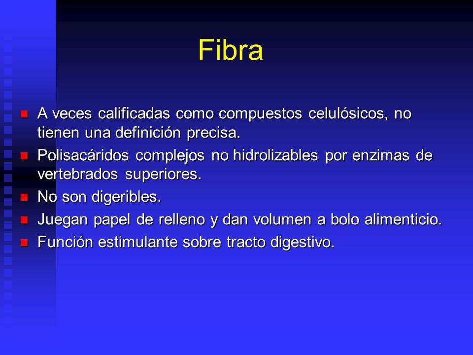 Fibra A veces calificadas como compuestos celulósicos, no tienen una definición precisa.