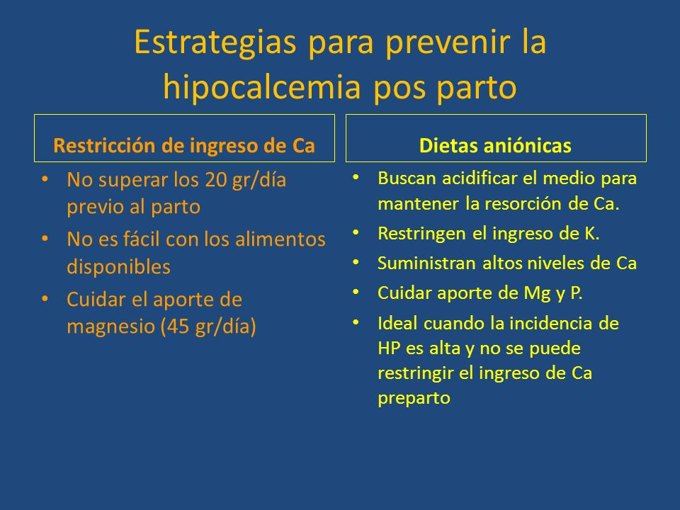 Con La Hipocalcemia Subclinica En Vacas Lecheras Adaptado De