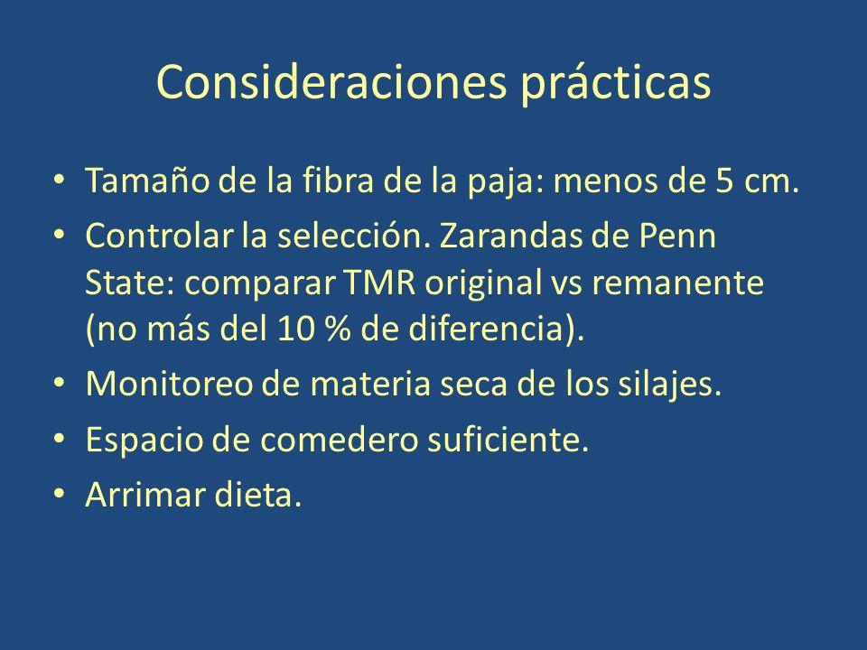 Consideraciones prácticas Tamaño de la fibra de la paja: menos de 5 cm.