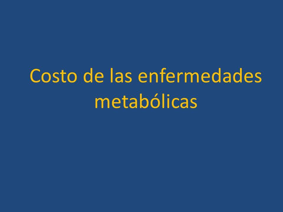 Costo de las enfermedades metabólicas