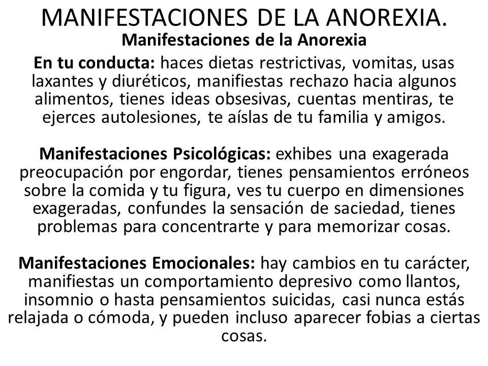 LA ANOREXIA. ¿Qué es la Anorexia? La anorexia nerviosa es una enfermedad crónica que refleja un grave problema de conducta alimenticia, causa pérdida