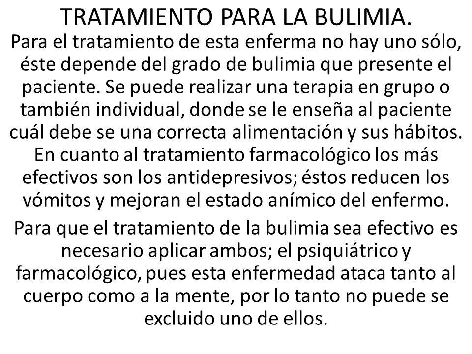 TRATAMIENTO PARA LA BULIMIA.