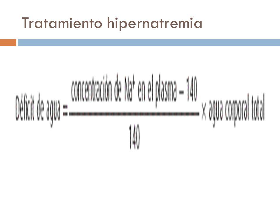 Tratamiento hipernatremia