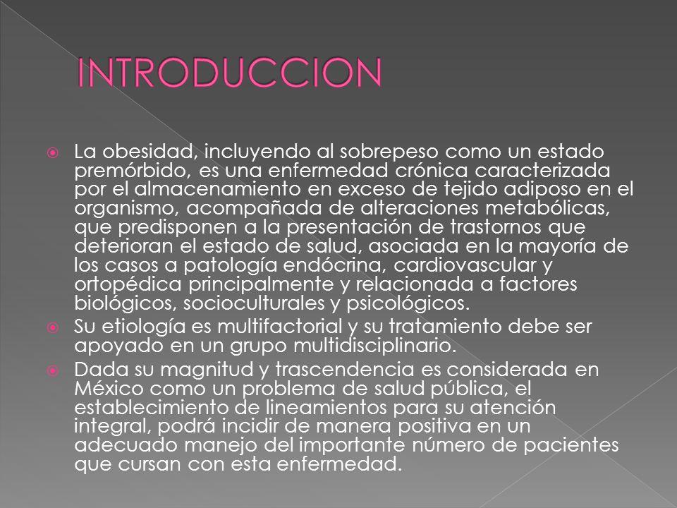NORMA Oficial Mexicana NOM-174- SSA1-1998, Para el manejo integral de la obesidad.