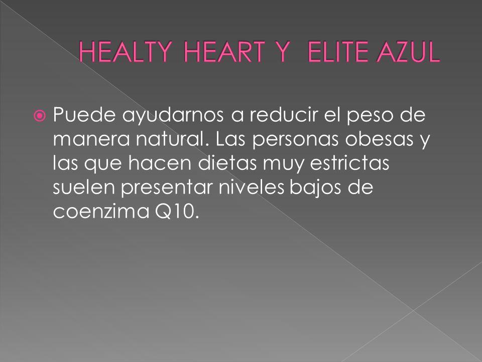 Puede ayudarnos a reducir el peso de manera natural. Las personas obesas y las que hacen dietas muy estrictas suelen presentar niveles bajos de coenzi