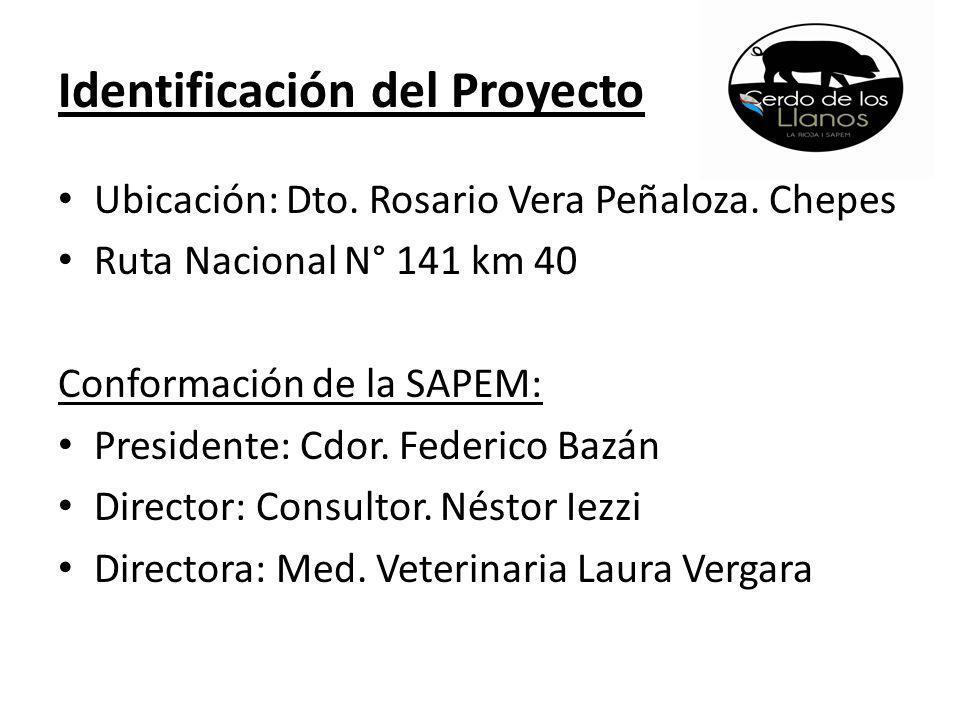 Identificación del Proyecto Ubicación: Dto.Rosario Vera Peñaloza.