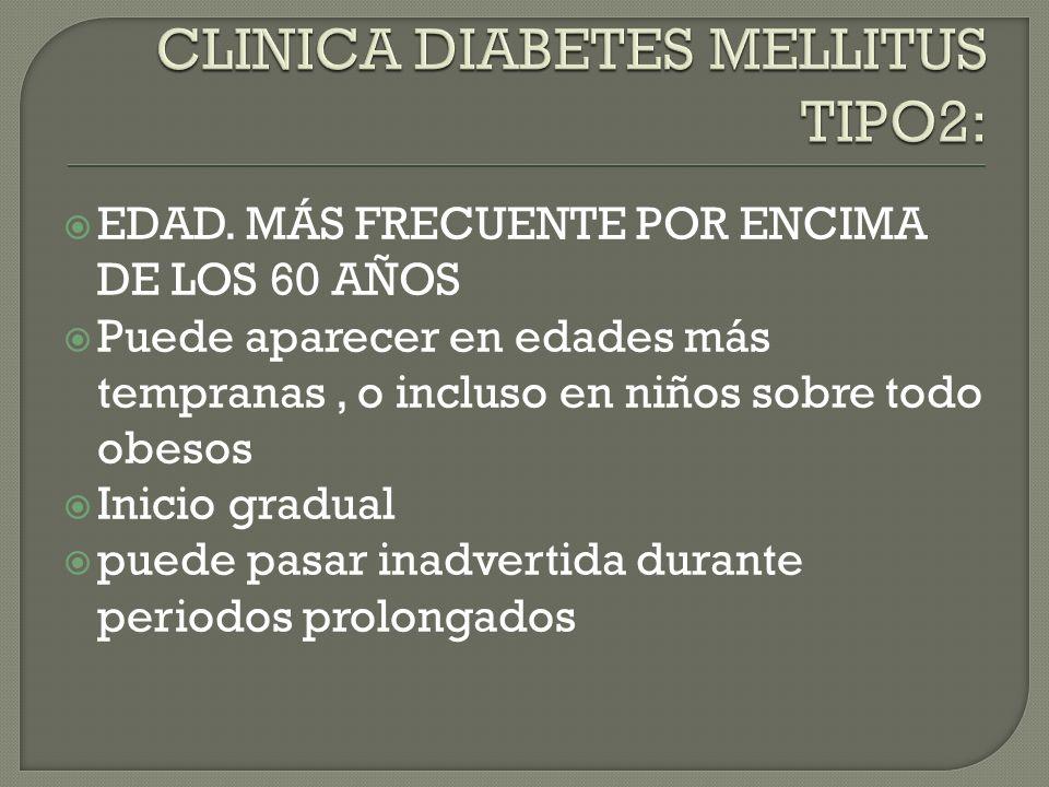 Susceptibilidad genética: se trata de una enfermedad poligénica con factores genéticos más importantes que la diabetes tipo1. Factores ambientales: ed