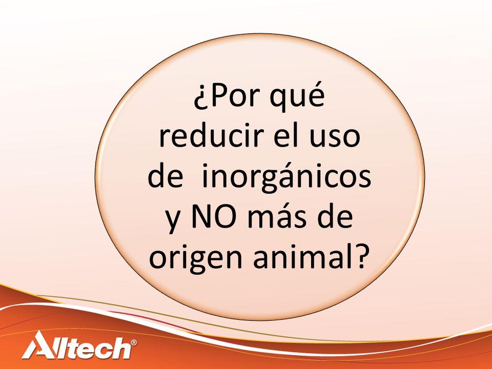 ¿Por qué reducir el uso de inorgánicos y NO más de origen animal?