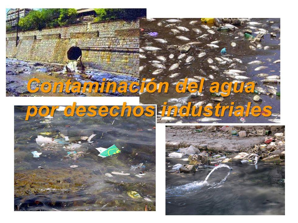 Contaminación del agua por desechos industriales