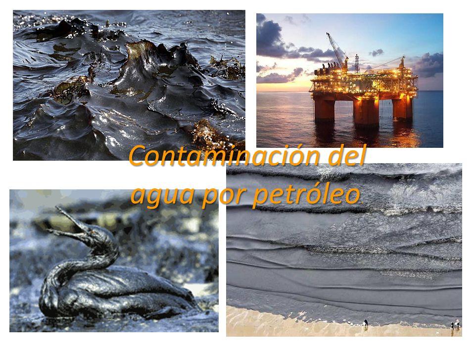 Contaminación del agua por petróleo Contaminación del agua por petróleo.