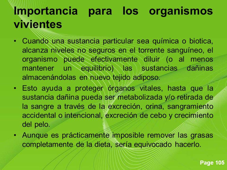 Page 105 Importancia para los organismos vivientes Cuando una sustancia particular sea química o biotica, alcanza niveles no seguros en el torrente sa